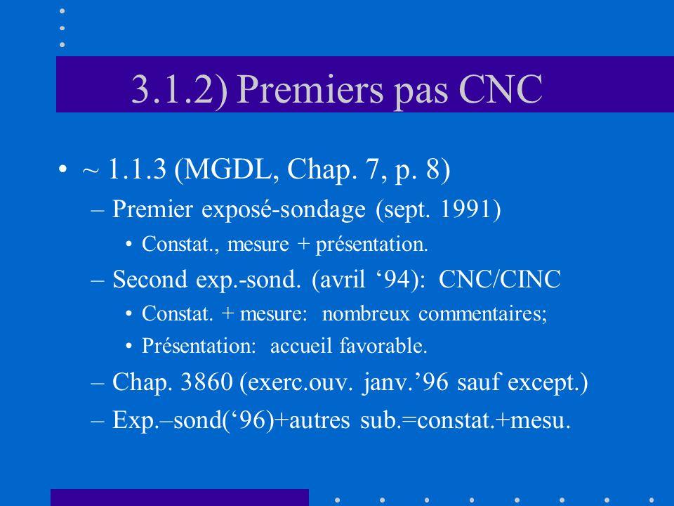 3.1.2) Premiers pas CNC ~ 1.1.3 (MGDL, Chap. 7, p.