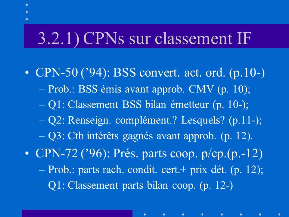 3.2.1) CPNs sur classement IF CPN-50 (94): BSS convert.