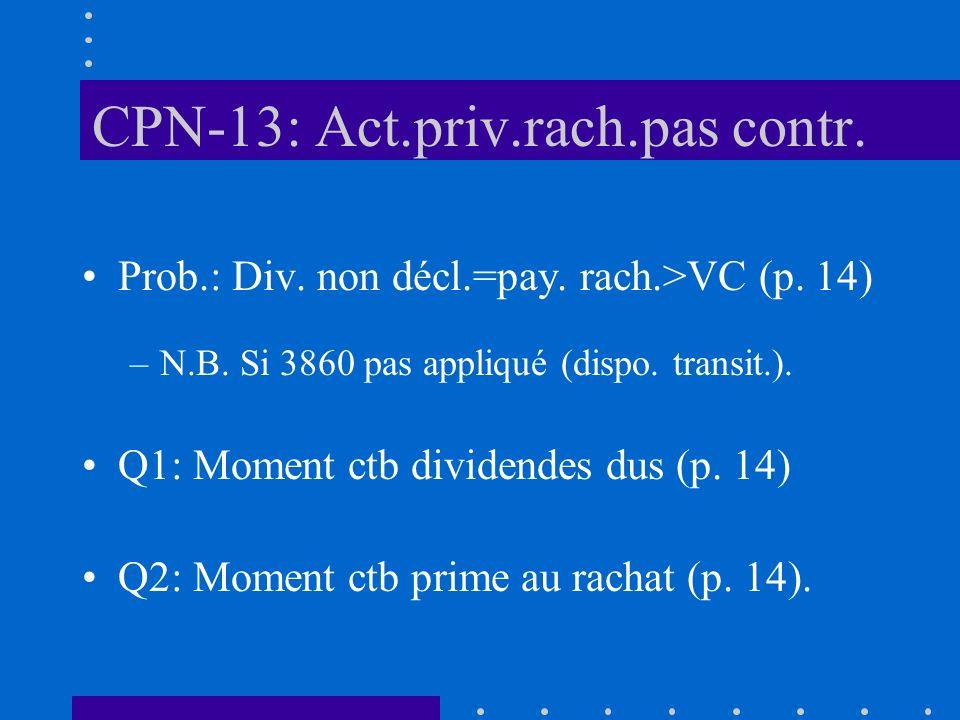CPN-13: Act.priv.rach.pas contr. Prob.: Div. non décl.=pay.