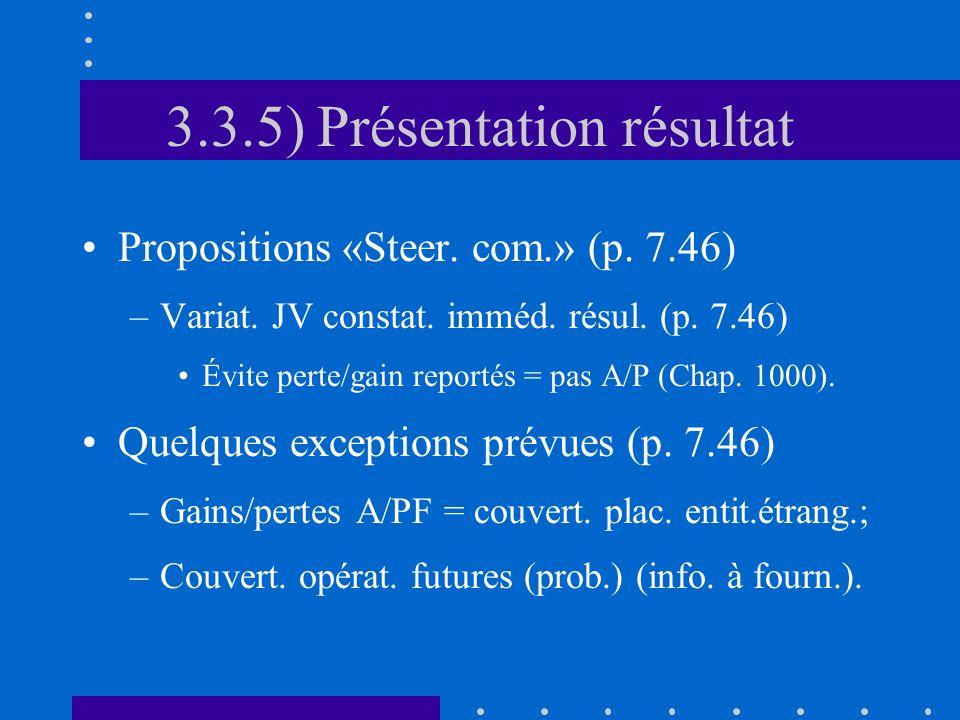 3.3.5) Présentation résultat Propositions «Steer. com.» (p.