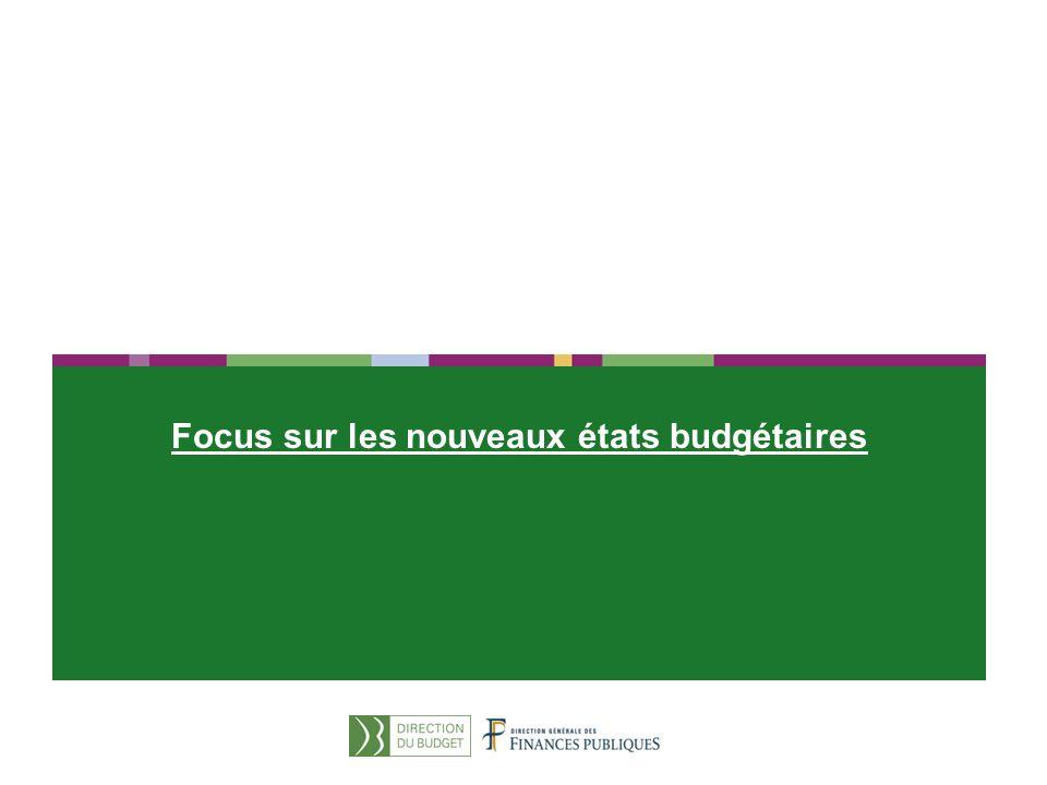 26 Focus sur les nouveaux états budgétaires