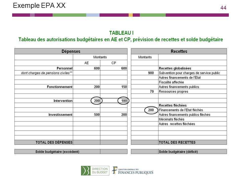 44 Exemple EPA XX
