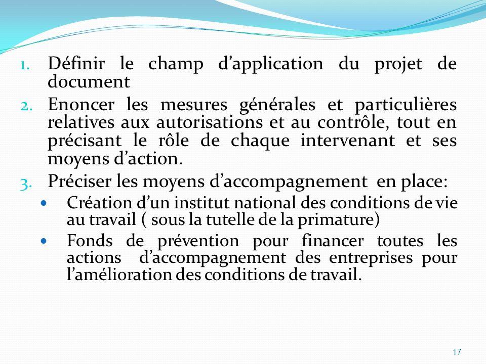 1. Définir le champ dapplication du projet de document 2.