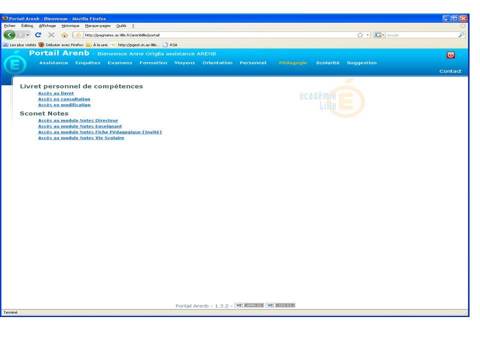 Choix des documents à éditer Sélection des élèves