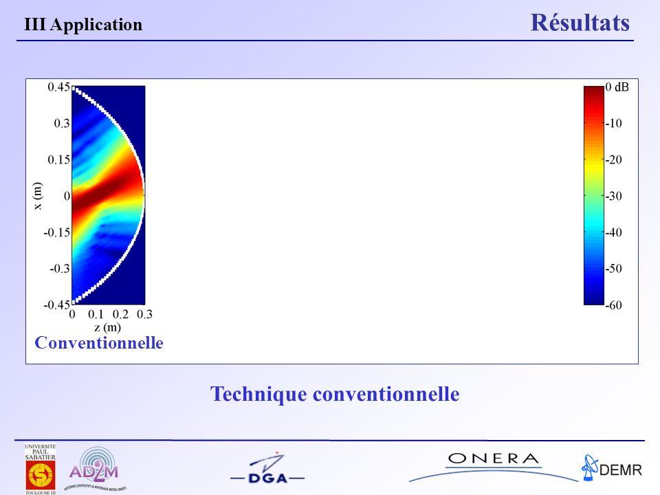 III Application Résultats Conventionnelle Technique conventionnelle