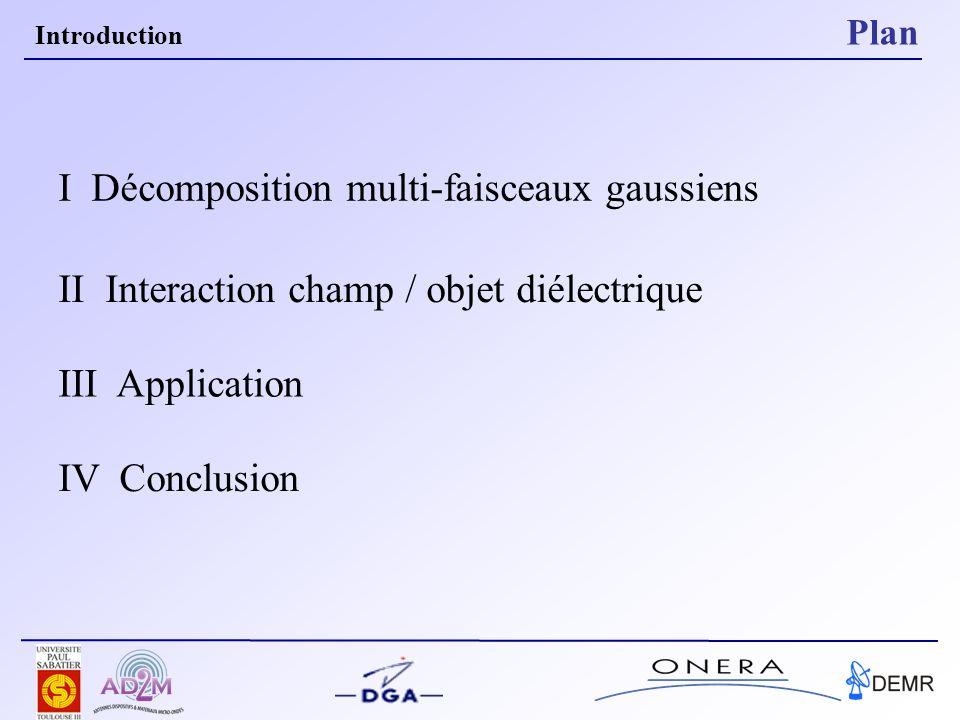 Solutions approchées des équations de propagation W0W0 Expression analytique paraxiale Q(z) matrice de courbure complexe du faisceau I Décomposition multi faisceaux gaussiens Les faisceaux gaussiens