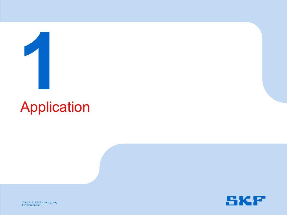1 Application 2014-05-18 ©SKF Slide 2 [Code] SKF [Organisation]