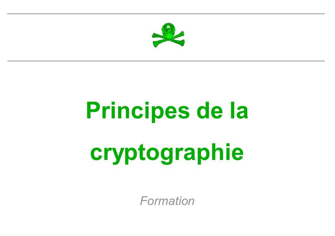 Principes de la cryptographie Formation