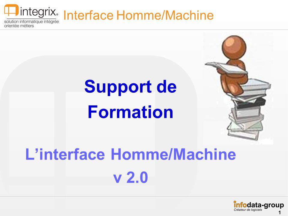 Support de Formation Linterface Homme/Machine v 2.0 Interface Homme/Machine 1 1