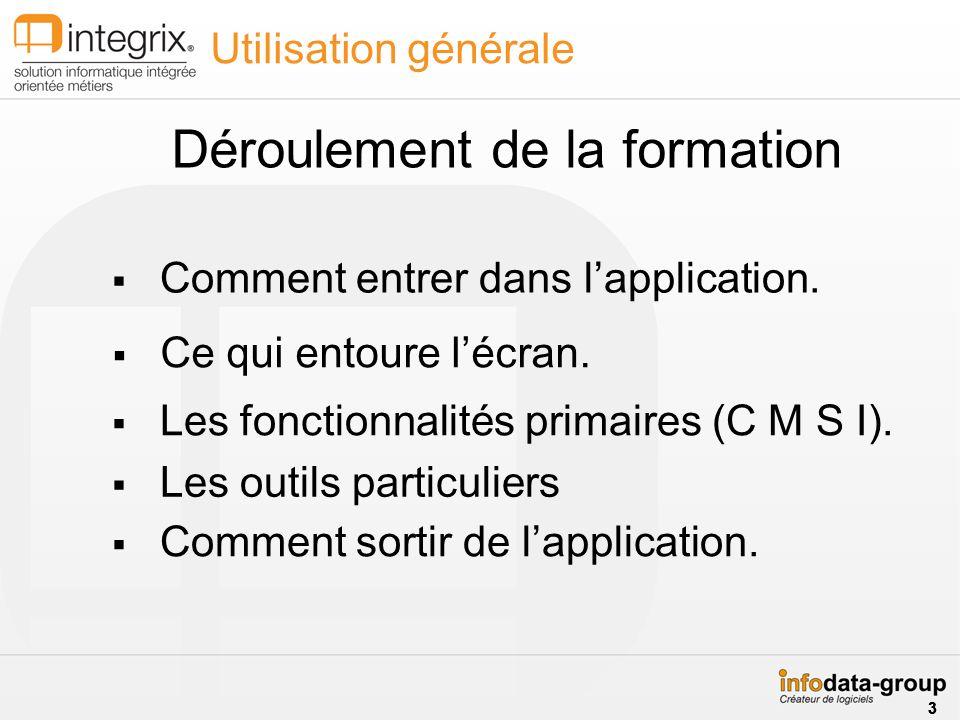 Utilisation générale Les fonctionnalités primaires (C M S I).