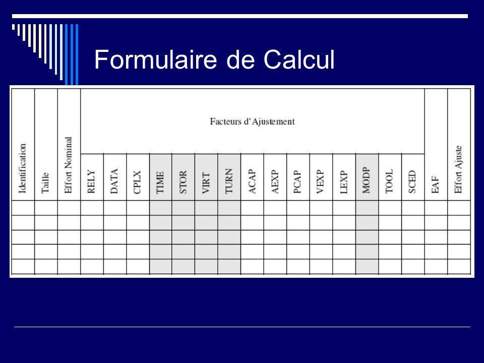 Formulaire de Calcul