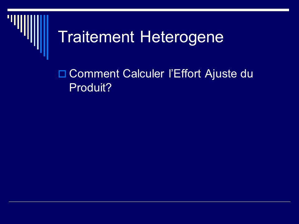 Traitement Heterogene Comment Calculer lEffort Ajuste du Produit?