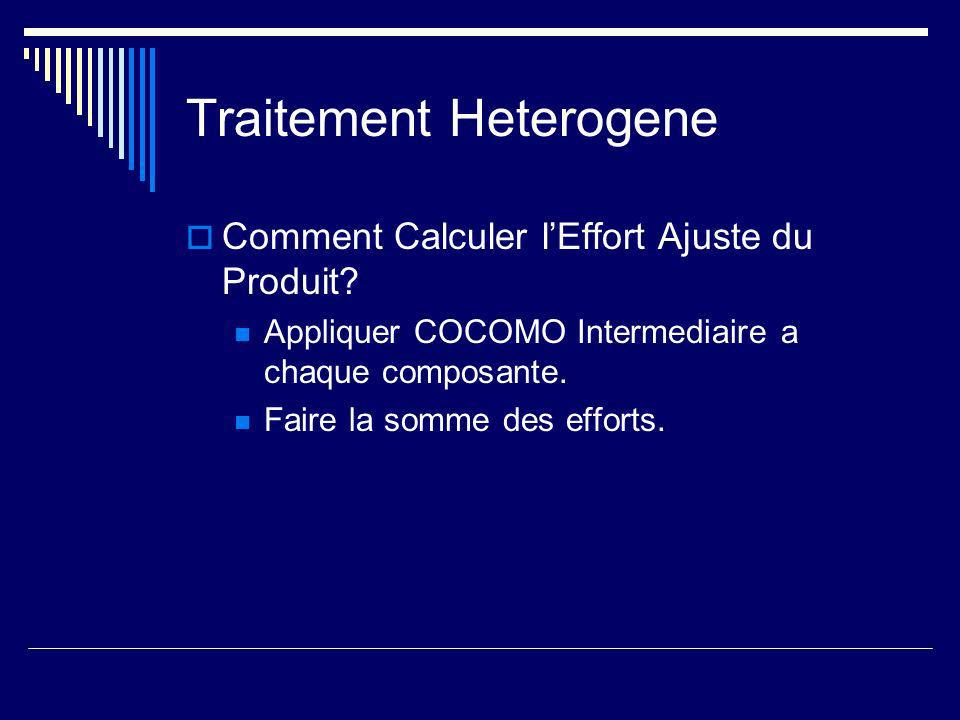 Traitement Heterogene Comment Calculer lEffort Ajuste du Produit.