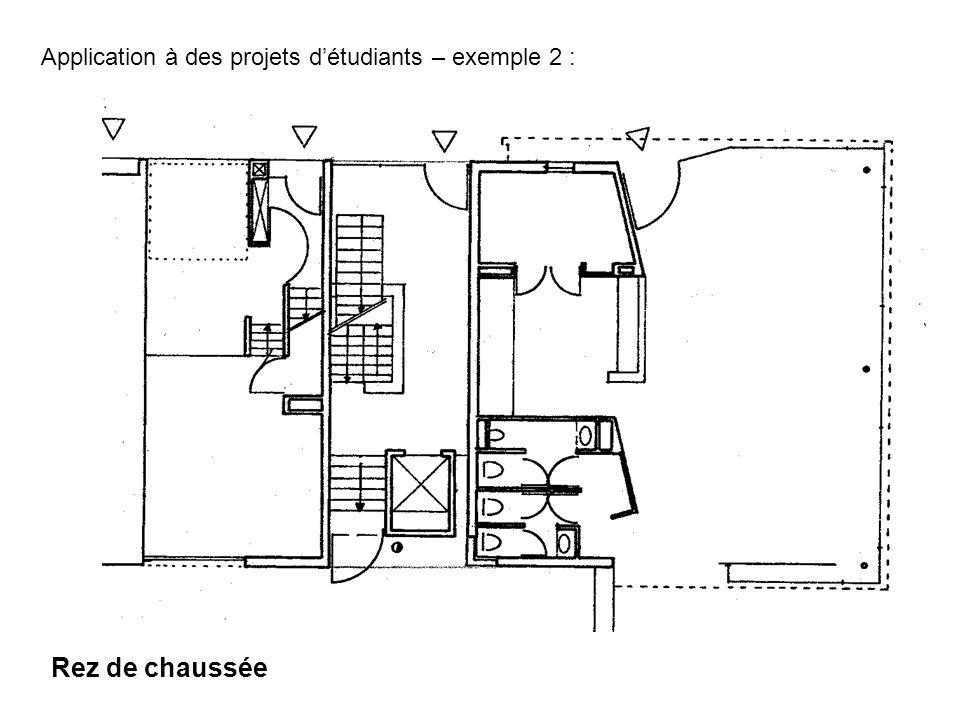 Rez de chaussée Application à des projets détudiants – exemple 2 :