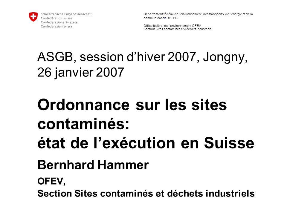 12 État de la gestion des sites contaminés | B.