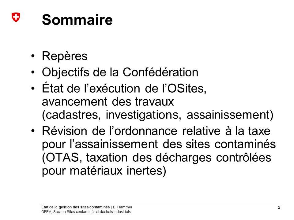2 État de la gestion des sites contaminés | B.