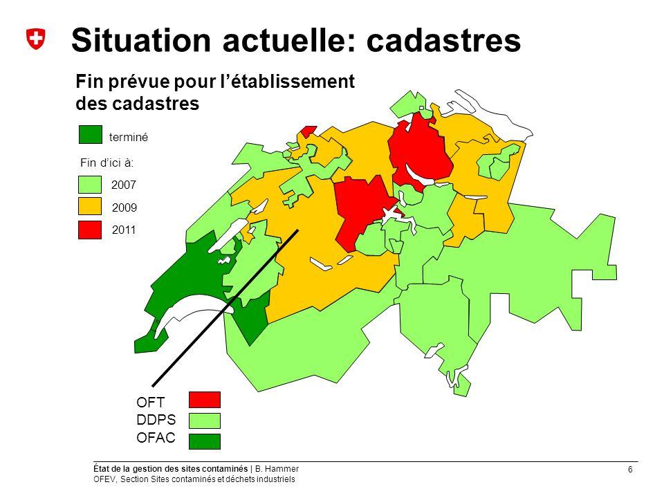 6 État de la gestion des sites contaminés | B.