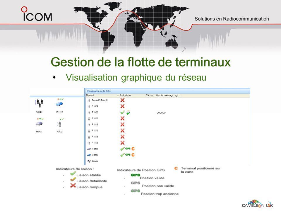 Gestion de la flotte de terminaux Visualisation graphique du réseau