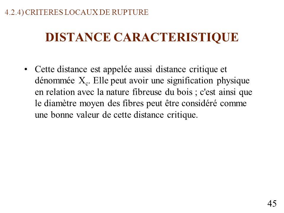 45 DISTANCE CARACTERISTIQUE Cette distance est appelée aussi distance critique et dénommée X c.