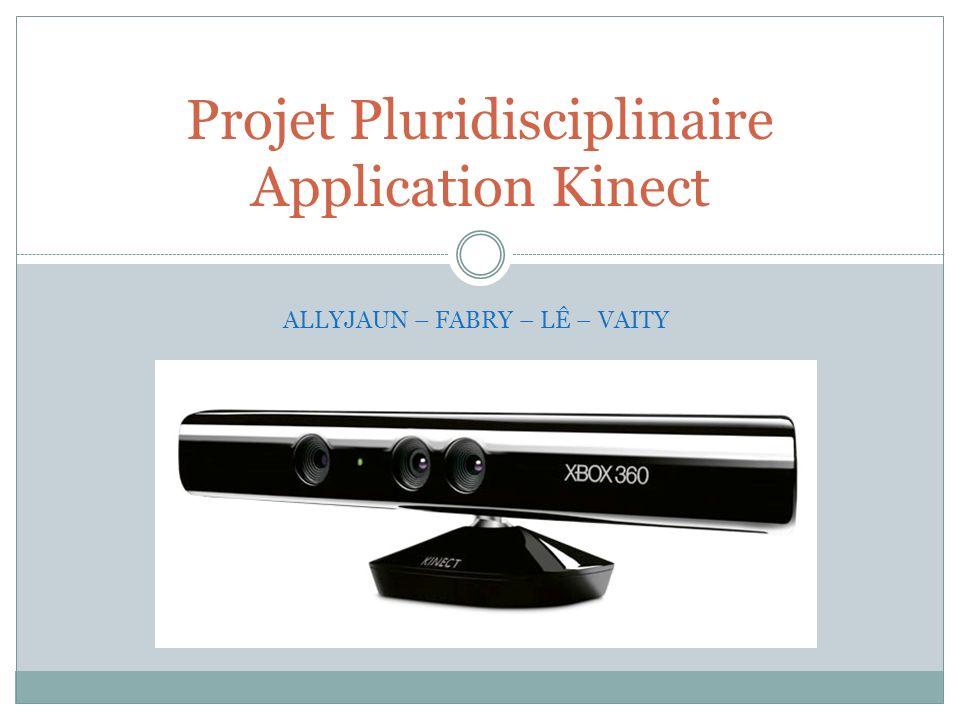Projet Pluridisciplinaire Application Kinect ALLYJAUN – FABRY – LÊ – VAITY