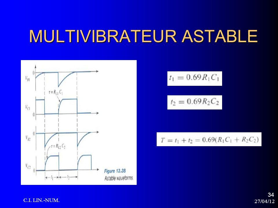 27/04/12 C.I. LIN.-NUM. 34 MULTIVIBRATEUR ASTABLE