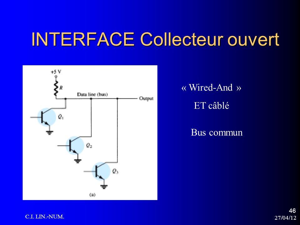 27/04/12 C.I. LIN.-NUM. 46 INTERFACE Collecteur ouvert « Wired-And » ET câblé Bus commun