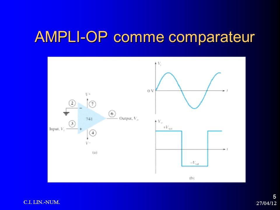 27/04/12 C.I. LIN.-NUM. 6 AMPLI-OP comme comparateur