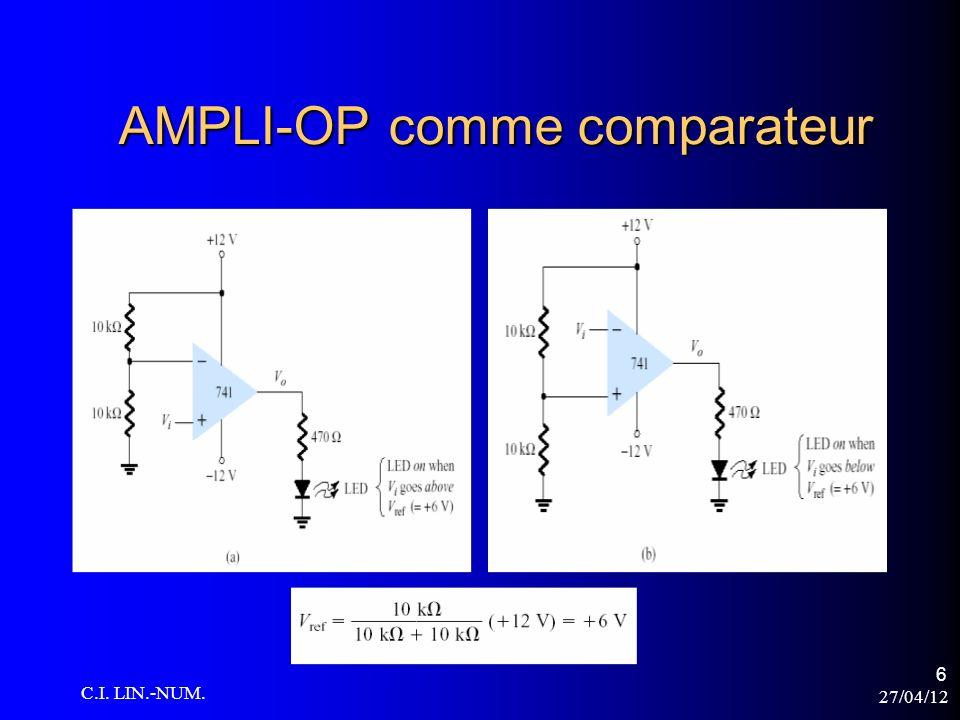 27/04/12 C.I. LIN.-NUM. 27 LM339 APPLICATIONS Comparateur « Fenêtre »