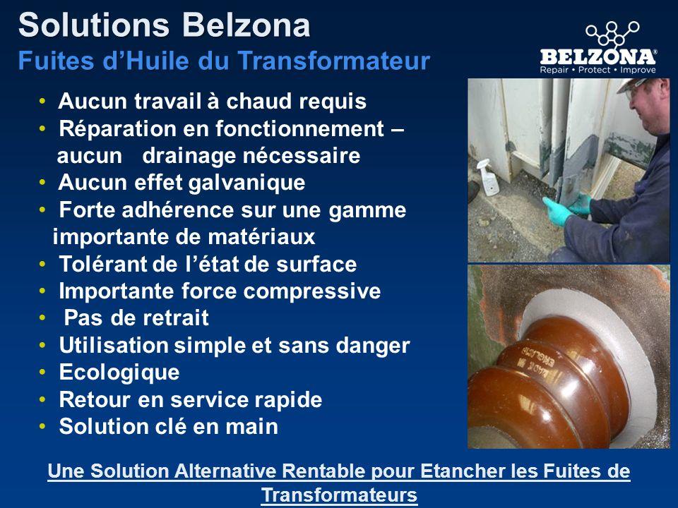 Aucun travail à chaud requis Réparation en fonctionnement – aucun drainage nécessaire Aucun effet galvanique Forte adhérence sur une gamme importante