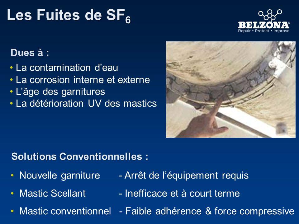 Les Fuites de SF 6 Solutions Conventionnelles : La contamination deau La corrosion interne et externe Lâge des garnitures La détérioration UV des mast