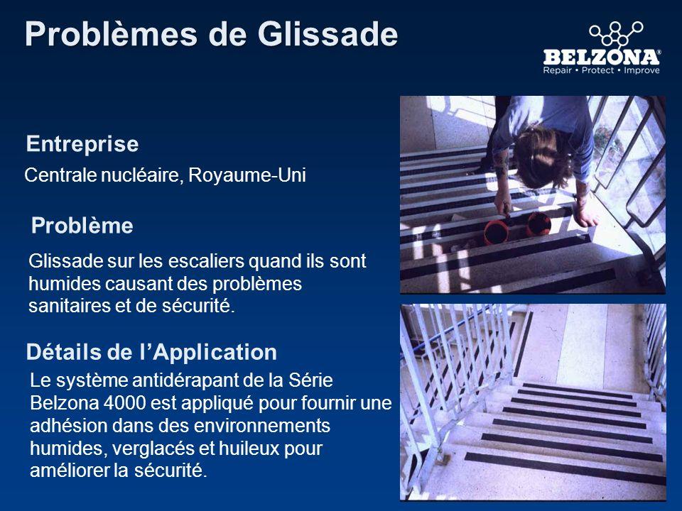 Entreprise Problème Détails de lApplication Problèmes de Glissade Centrale nucléaire, Royaume-Uni Glissade sur les escaliers quand ils sont humides ca