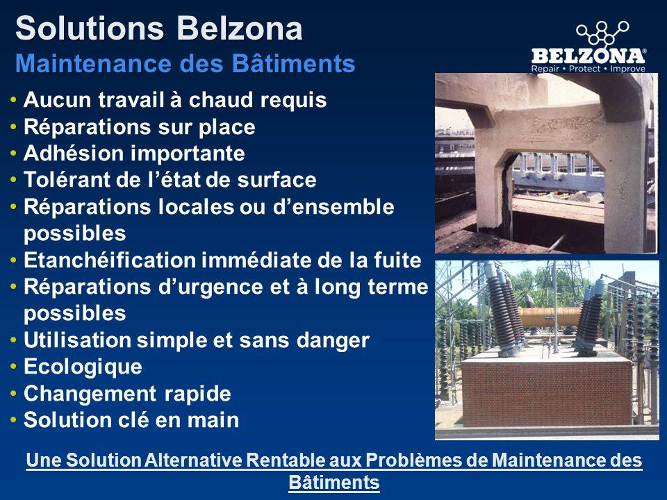 Aucun travail à chaud requis Réparations sur place Adhésion importante Tolérant de létat de surface Réparations locales ou densemble possibles Etanché