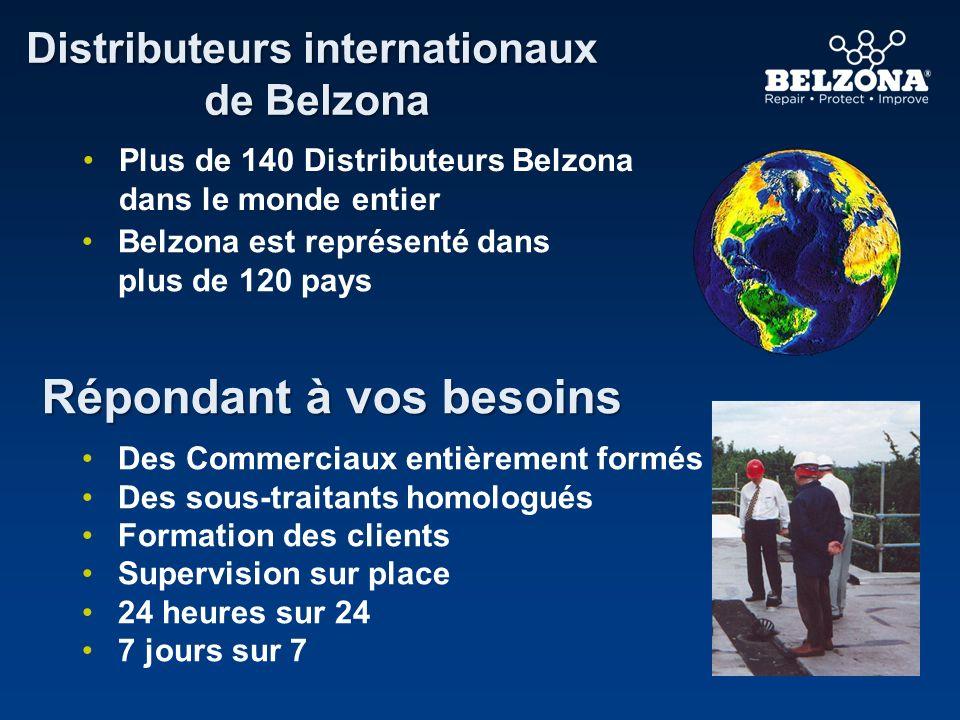 Répondant à vos besoins Distributeurs internationaux de Belzona Plus de 140 Distributeurs Belzona dans le monde entier Belzona est représenté dans plu