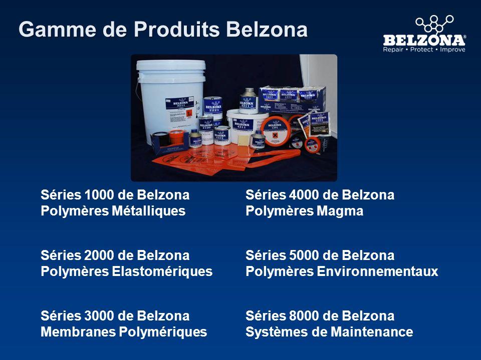 Gamme de Produits Belzona Séries 1000 de Belzona Polymères Métalliques Séries 4000 de Belzona Polymères Magma Séries 2000 de Belzona Polymères Elastom