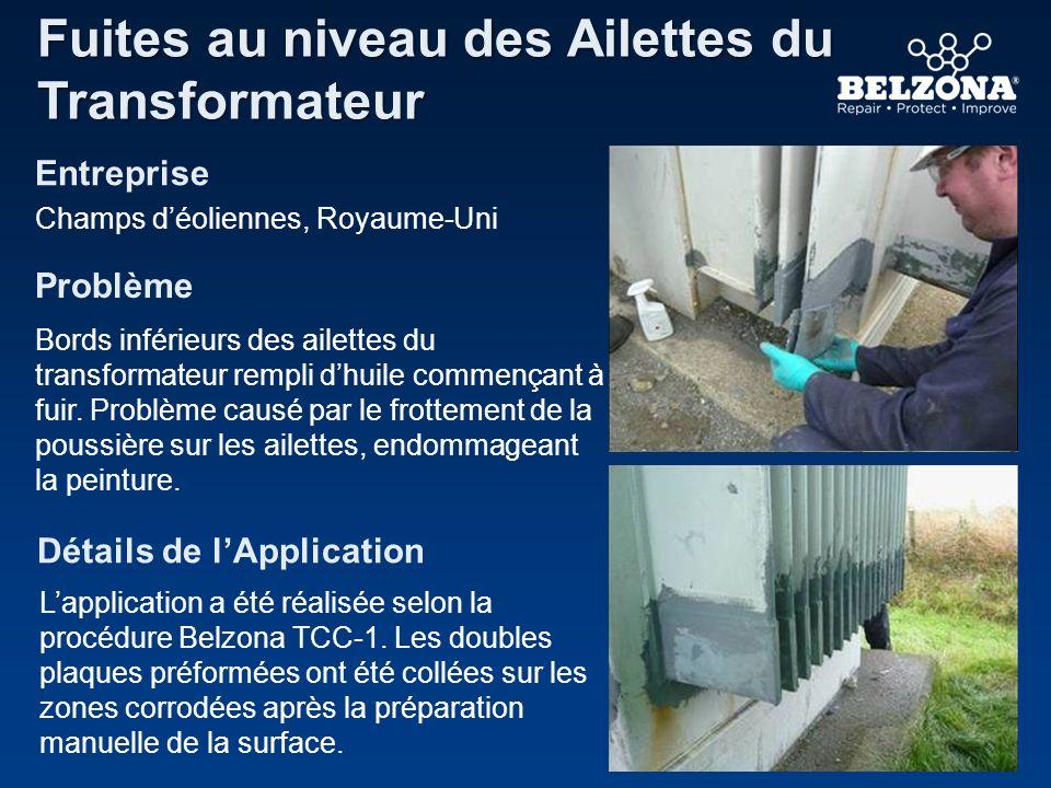 Les systèmes de Belzona résoudront des centaines de problèmes de maintenance incluant : Comment Belzona peut-il vous aider.