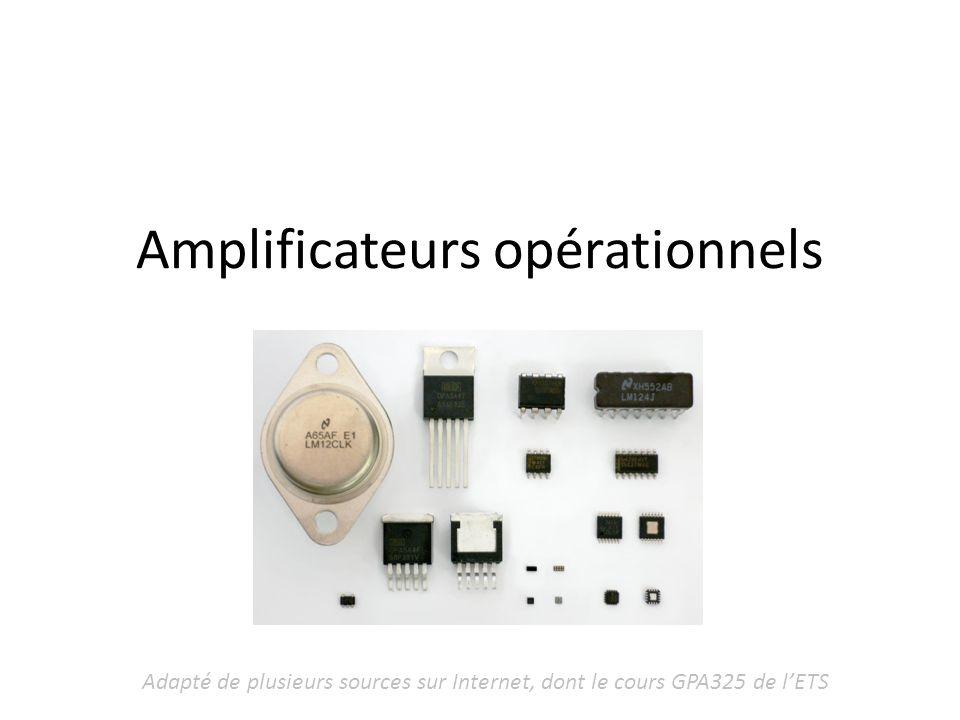 Amplificateurs opérationnels Adapté de plusieurs sources sur Internet, dont le cours GPA325 de lETS