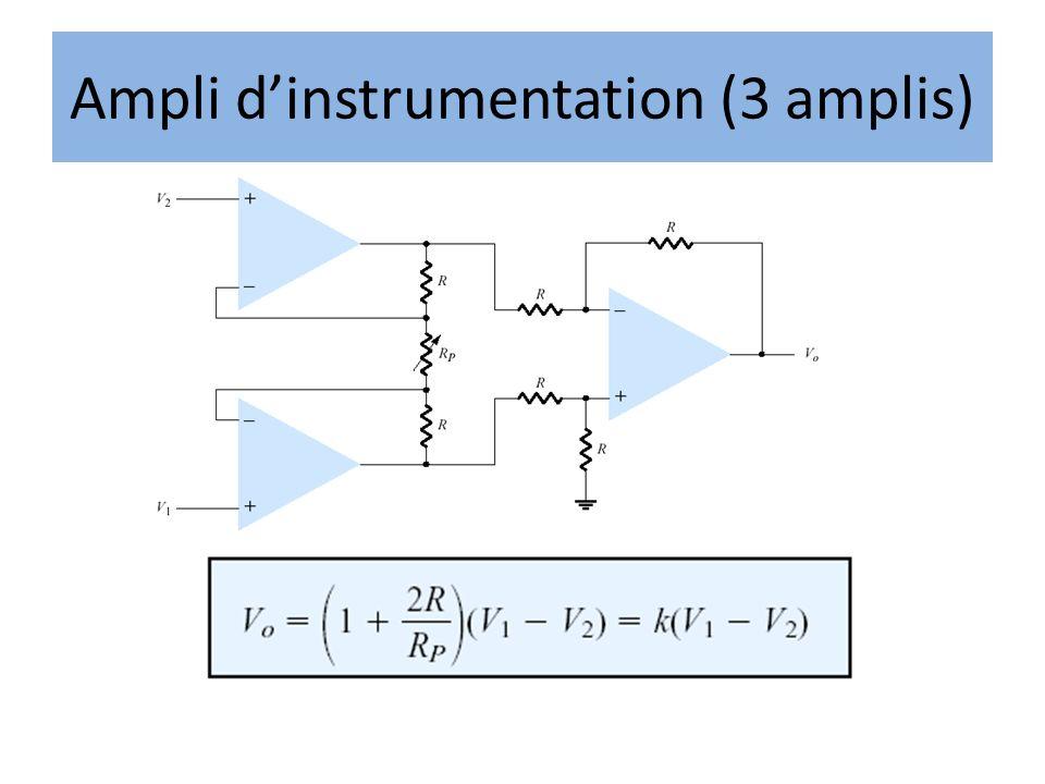 Ampli dinstrumentation (3 amplis)