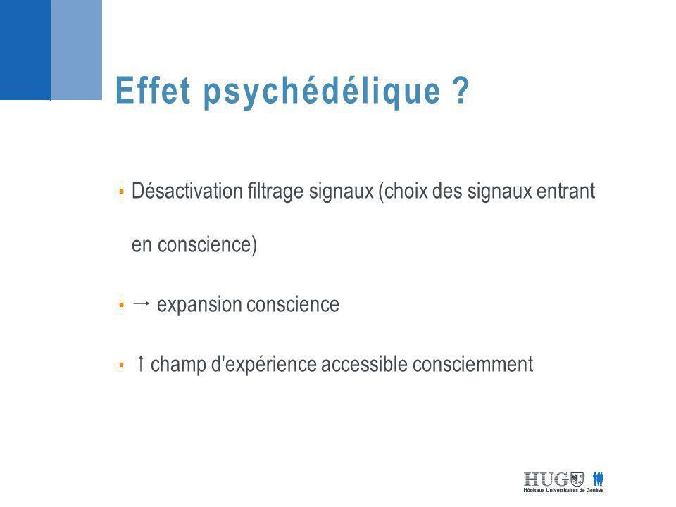 Désactivation filtrage signaux (choix des signaux entrant en conscience) expansion conscience champ d expérience accessible consciemment Effet psychédélique ?