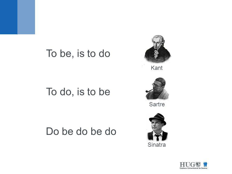 Kant Sartre Sinatra To be, is to do To do, is to be Do be do be do