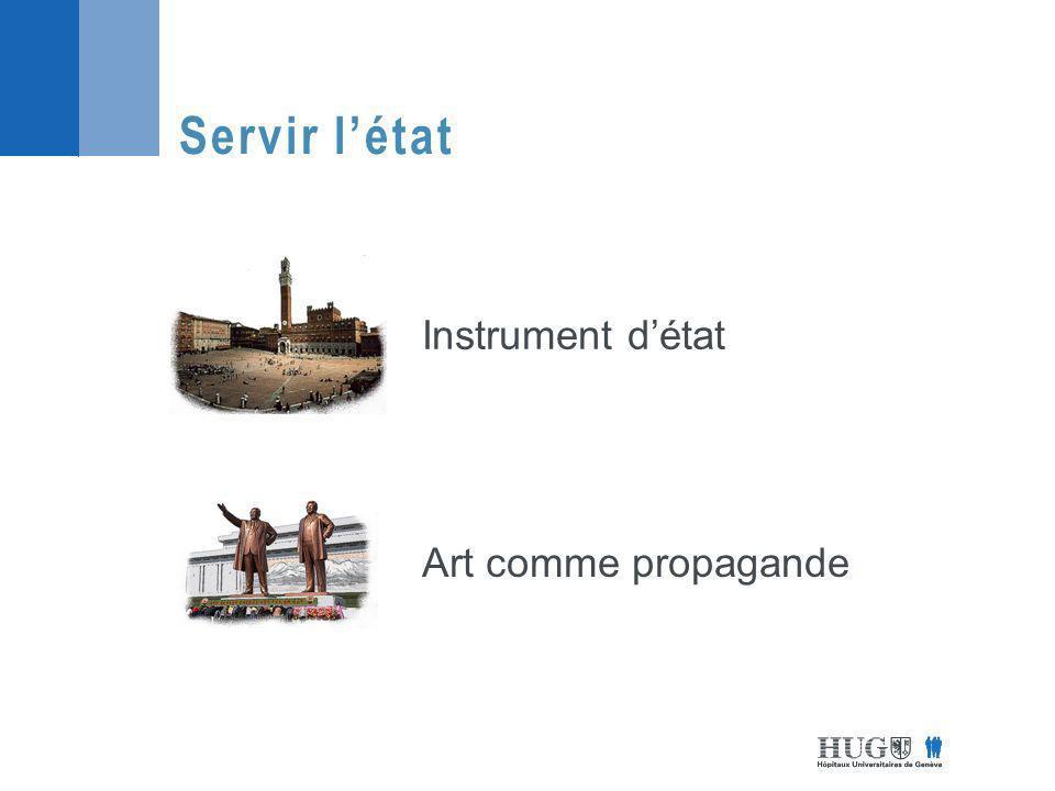 Servir létat Instrument détat Art comme propagande
