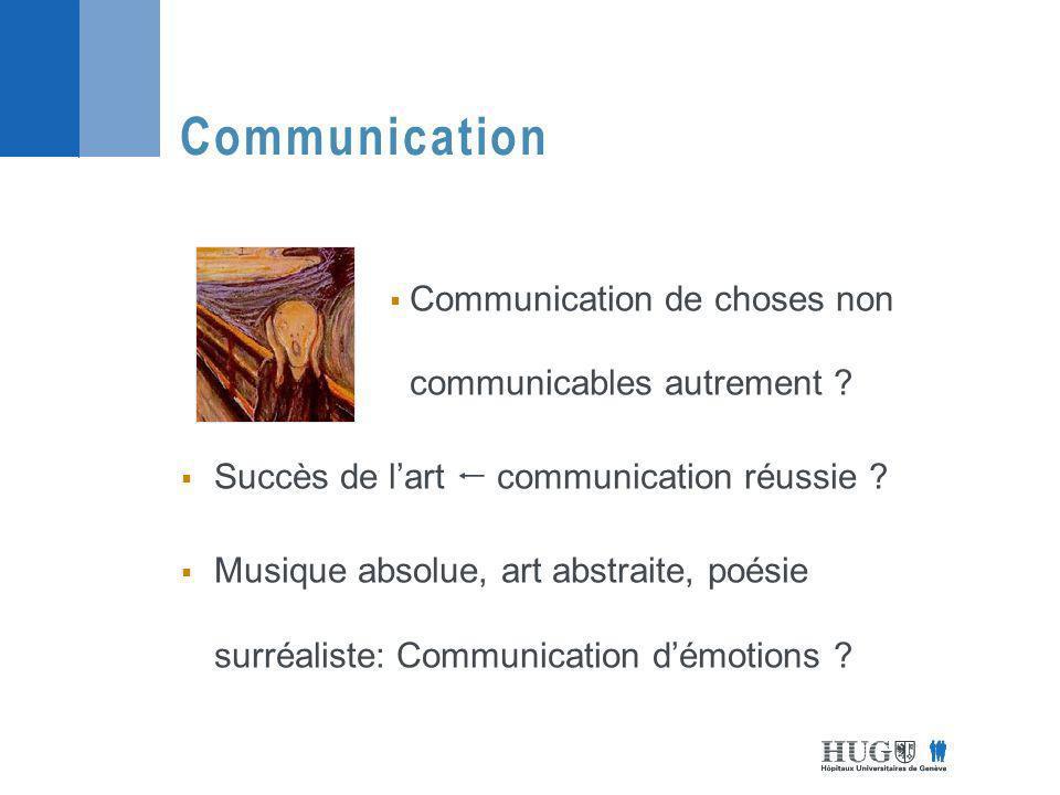 Communication de choses non communicables autrement .