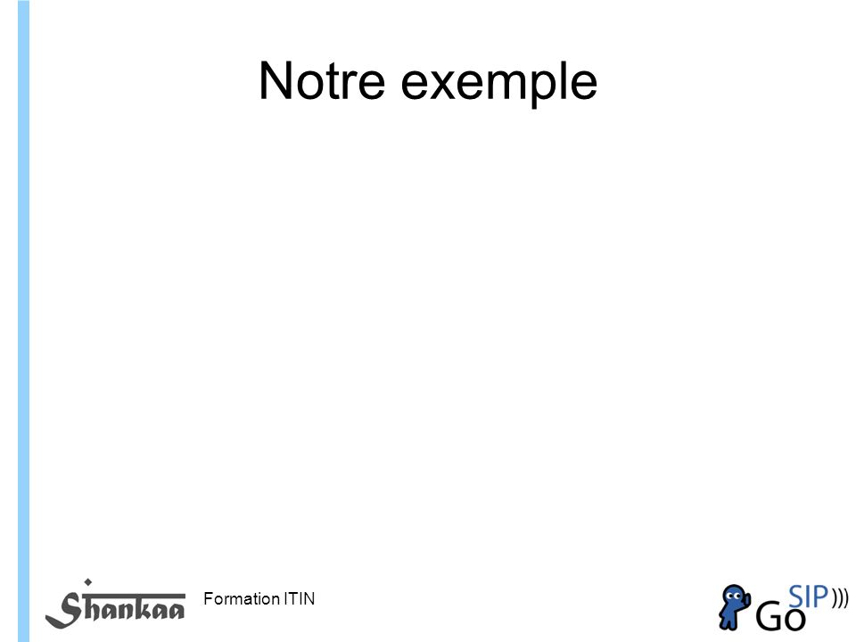 Formation ITIN Notre exemple