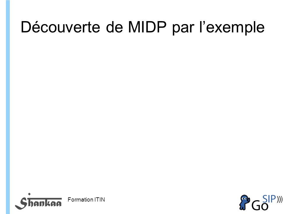 Formation ITIN Découverte de MIDP par lexemple