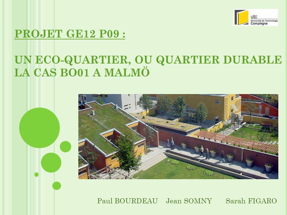 S OMMAIRE Introduction Comprendre la dynamique de création dun éco- quartier à laide du cas BO01 Contexte Système dActeurs Concret En quoi BO01 est-il un quartier durable.