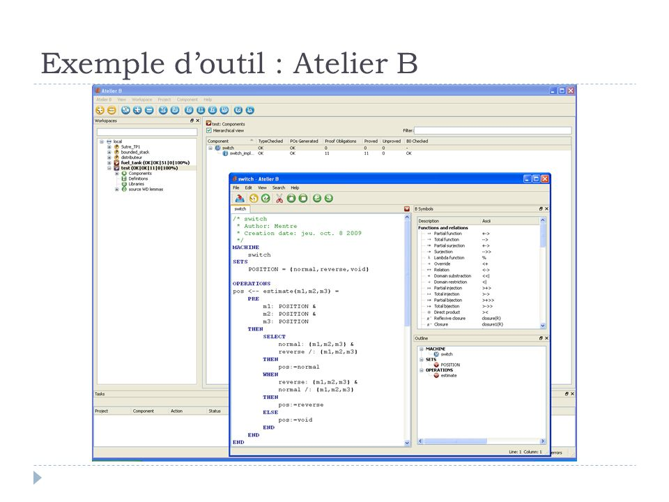 Exemple doutil : Atelier B