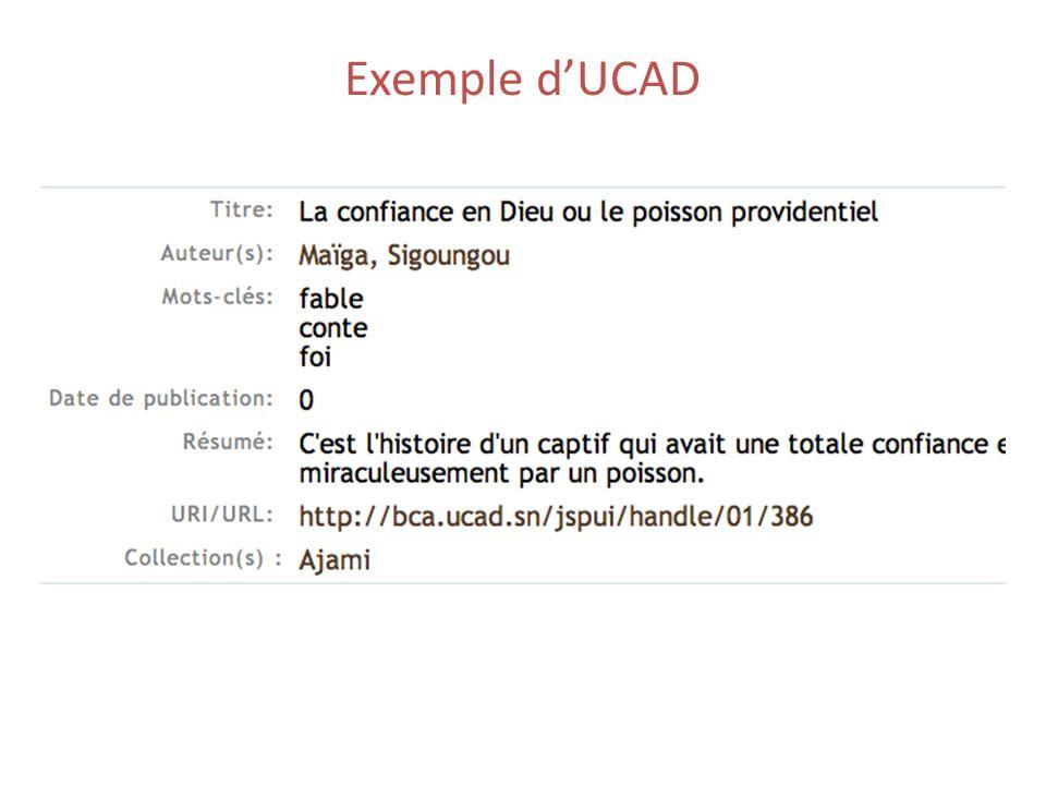 Exemple dUCAD