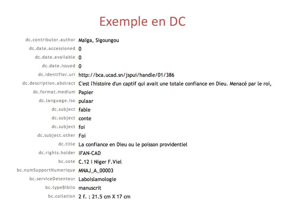 Exemple en DC
