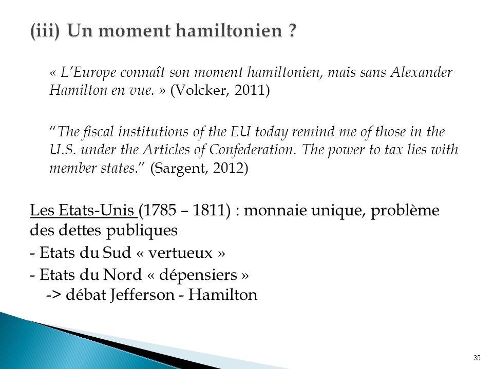 « LEurope connaît son moment hamiltonien, mais sans Alexander Hamilton en vue.