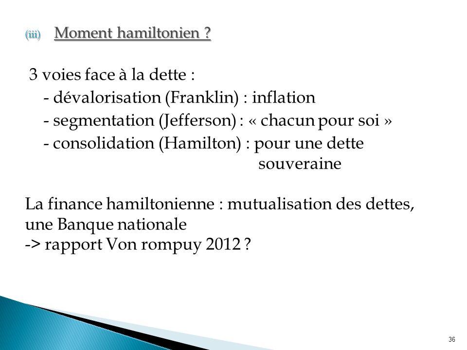 (iii) Moment hamiltonien .