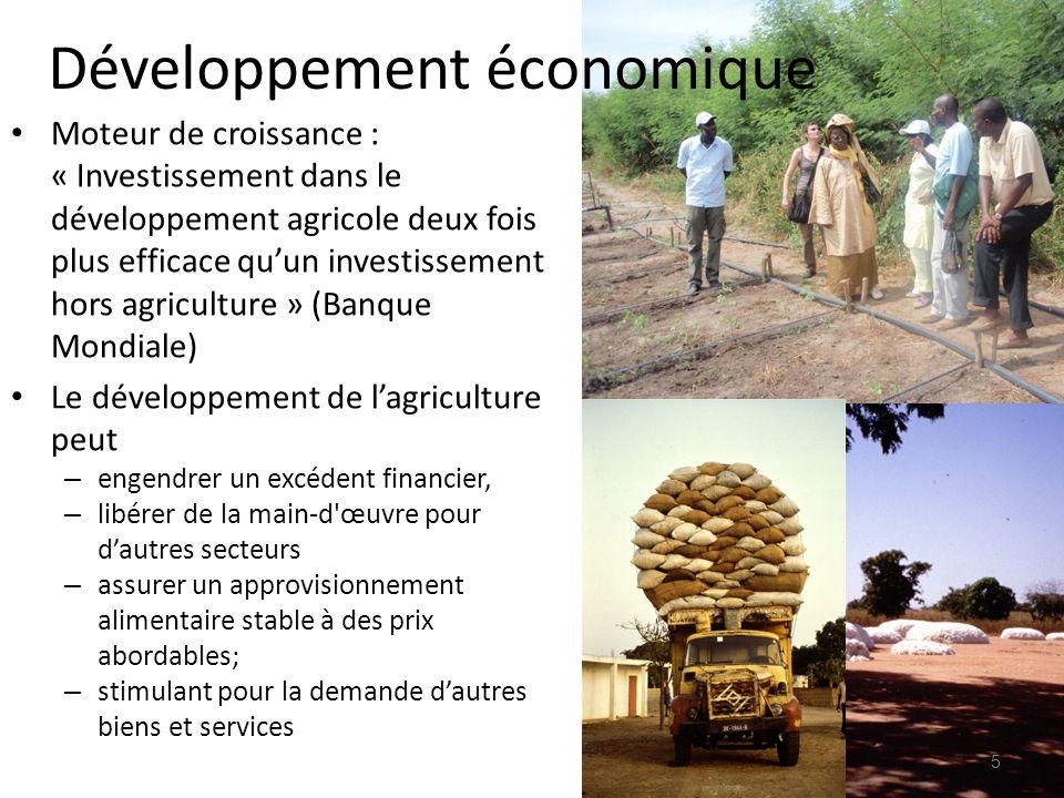 Moteur de croissance : « Investissement dans le développement agricole deux fois plus efficace quun investissement hors agriculture » (Banque Mondiale